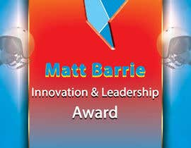 #22 for Design a trophy or plaque for the Matt Barrie Innovation and Leadership Award by femolacaster