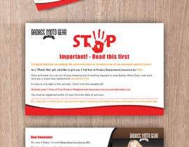 #47 cho Design a product insert/2 sided postcard. bởi CDesigner360