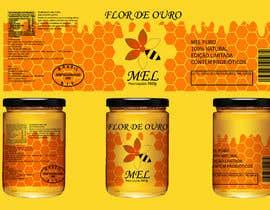 #16 para Rótulo para pote de mel FLOR DE OURO por mrsi