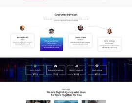 #16 para Social Media Marketing Agency Web site Mock Up por masuqebillah