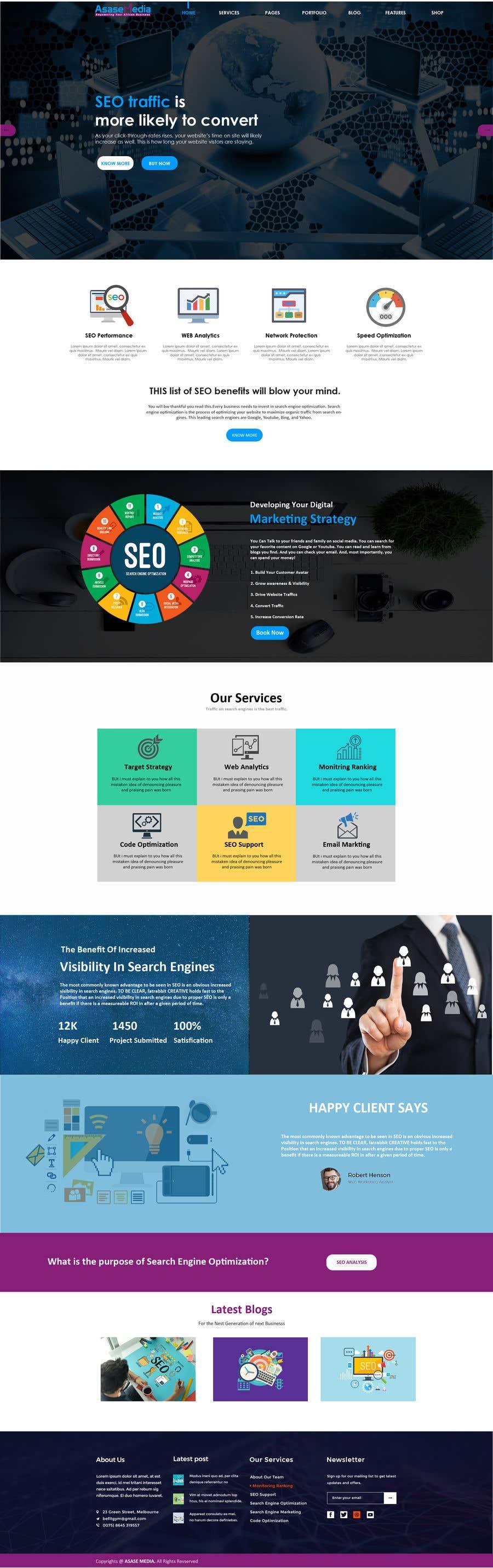 Inscrição nº 7 do Concurso para Social Media Marketing Agency Web site Mock Up