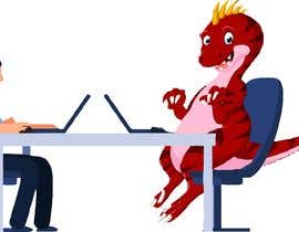 #4 cho Need an illustration of a man working at a desk with a dinosaur bởi albakry20014