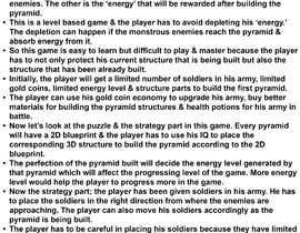 Nro 8 kilpailuun Make Innovative Game Design Document käyttäjältä cosmicK00
