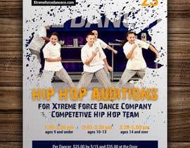 nº 13 pour Hip Hop Flier For Auditions par annadesign2549