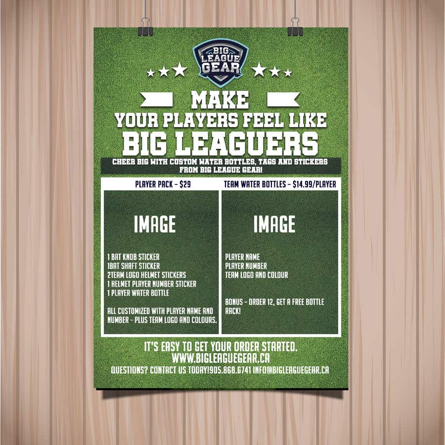 Konkurrenceindlæg #56 for Create a flyer for Big League Gear