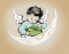 #17 cho Tshirt with Logo of Angel eating Avocado Toast bởi ridhiesingh