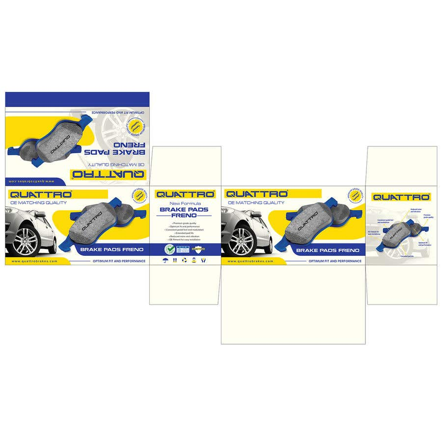 "Intrarea #18 pentru concursul ""Prepare packaging for Brake Pads and Brake Discs"""