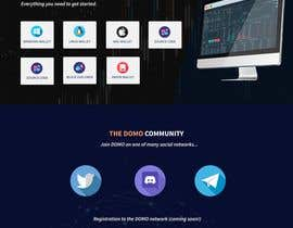 shamrat42 tarafından Design a futuristic landingpage for cryptocurrency project için no 12