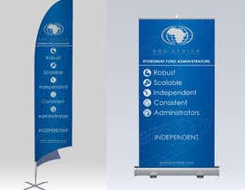 """#26 for Design a """"Banner Flag"""" and """"Pull up Banner"""" for an outdoor event by aliazadaknd"""