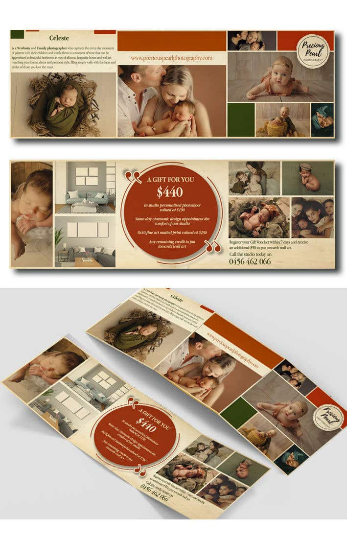 Inscrição nº 18 do Concurso para Design a 5x5 trifold gift voucher with a rustic earthy feel neat and well designed. - 10/04/2019 11:11 EDT