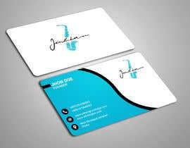 #59 for Design business cards for musician - Saxophone - Logo available by sakibtherockboy