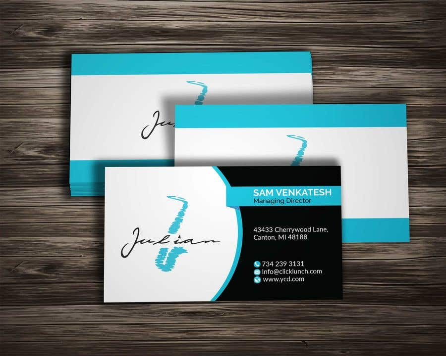 Contest Entry #63 for Design business cards for musician - Saxophone - Logo available