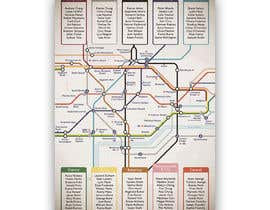 #9 for Design a vintage style London underground wedding seating plan poster by jamesmahoney98