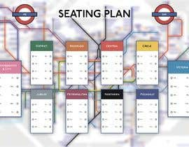 #11 for Design a vintage style London underground wedding seating plan poster by crazyyeditor