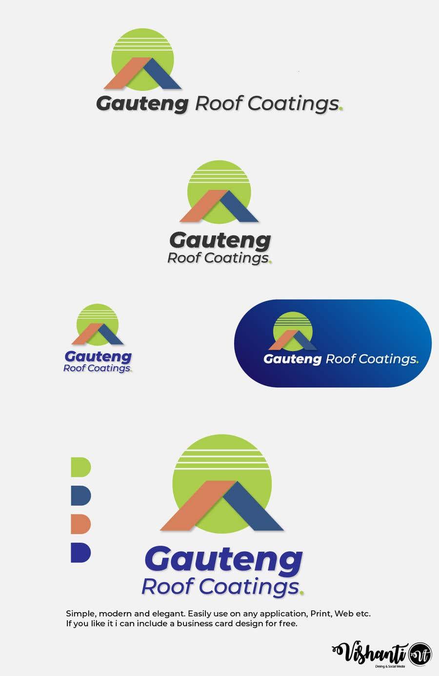 Konkurrenceindlæg #16 for Gauteng Roof Coatings Logo Design