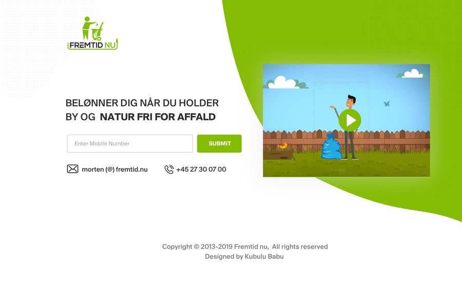 """Intrarea #5 pentru concursul """"Landing page to collect mobile phone number"""""""