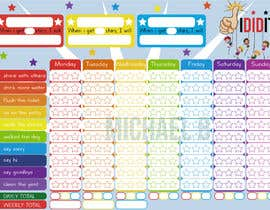 #16 for Design a kids reward chart in a3 size af michbo