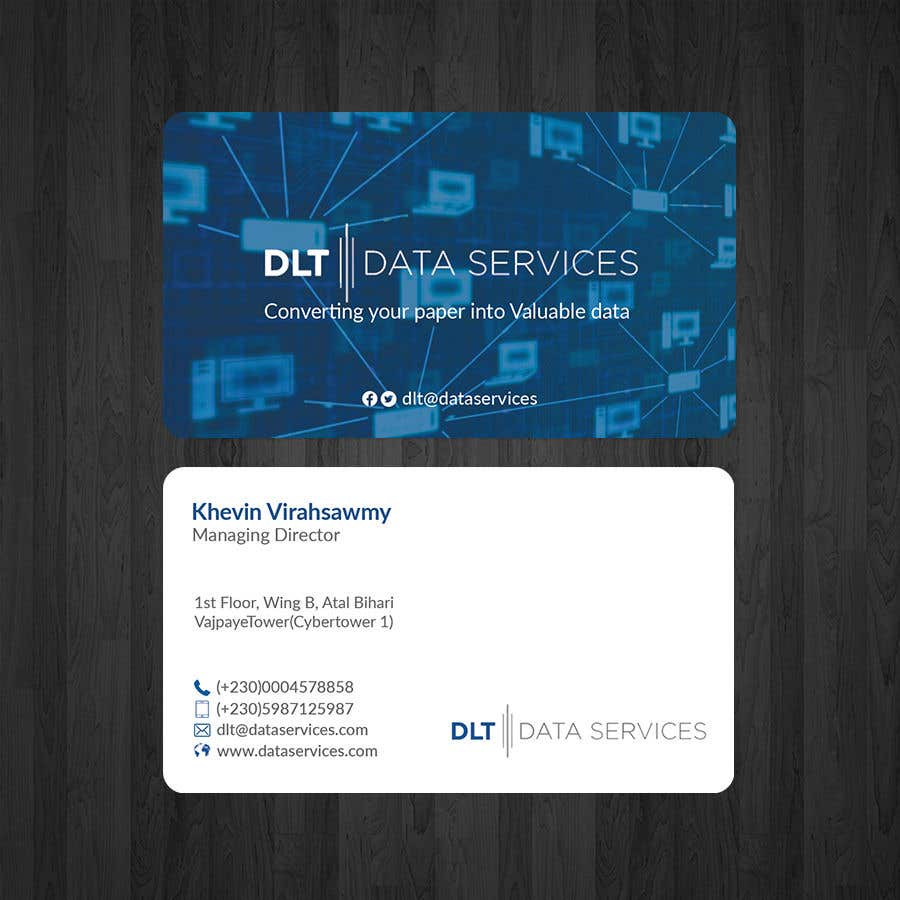 Kilpailutyö #143 kilpailussa Create business card