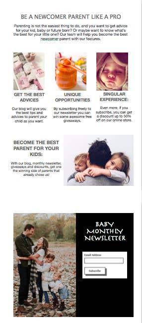 Kilpailutyö #4 kilpailussa Landing page text (Collecting emails for newsletter) for blog about kids, parents etc