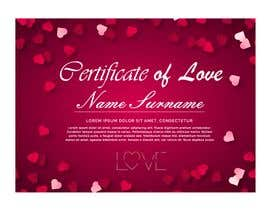 #23 for design a love certificate template with my logo af adesigngr
