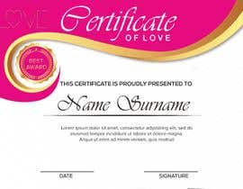 #11 for design a love certificate template with my logo af bhumishah312
