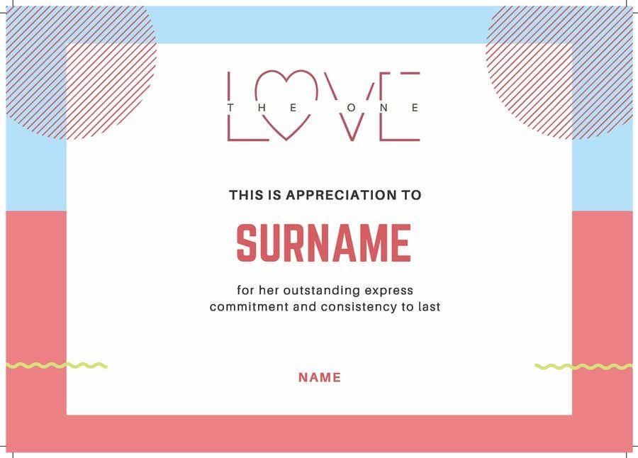 Contest Entry #5 for design a love certificate template with my logo