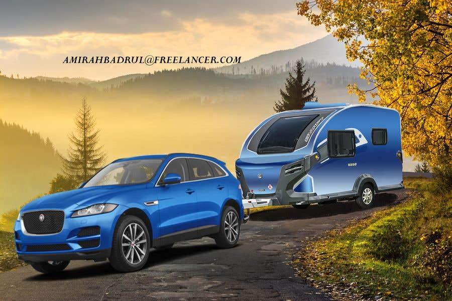 Penyertaan Peraduan #351 untuk Photoshop carvan on background image and change colour