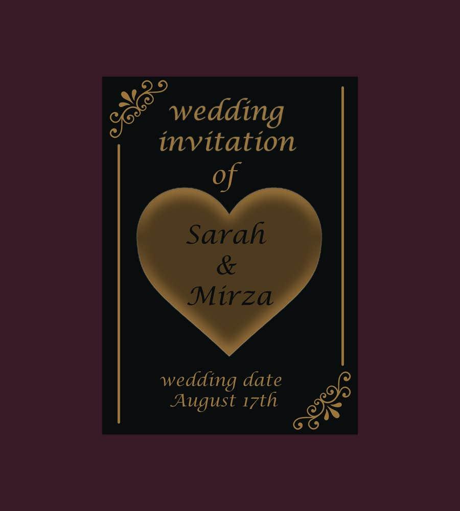 Kilpailutyö #126 kilpailussa design of wedding invitations