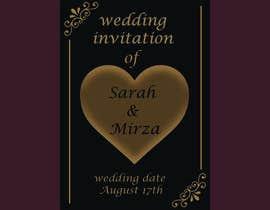 #126 para design of wedding invitations por nicesusomaakter