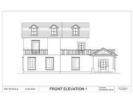#11 for Draw colonial elevation for a floor plan by MdTanzil