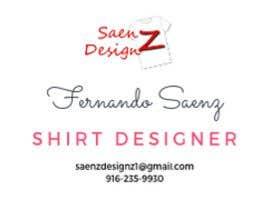 #89 untuk I want a two sided business card for T-shirt company. oleh khairiahyaacob