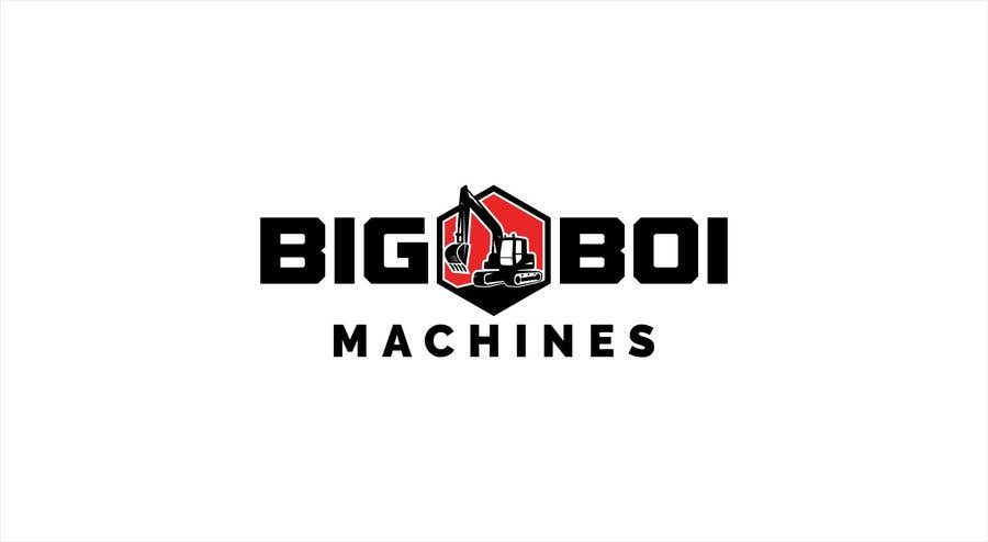 """Konkurrenceindlæg #82 for I have just started an excavation hire business and I need a logo designed for it. I'm looking for a new creative modern design rather than the standard 'run of the mill' logo.   The business name is """"Big Boi Machines""""."""