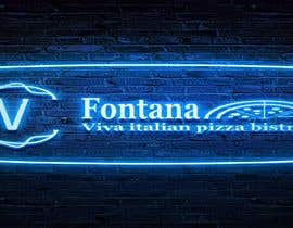 """#17 cho """"fontana viva italian pizza bistro"""" is restutant name, i want to make led gkoe sign board, for that you havr to design some illustration/design (fontana viva is name of my restutant) bởi hichamo0s"""