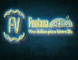 "Nro 20 kilpailuun ""fontana viva italian pizza bistro"" is restutant name, i want to make led gkoe sign board, for that you havr to design some illustration/design (fontana viva is name of my restutant) käyttäjältä hichamo0s"