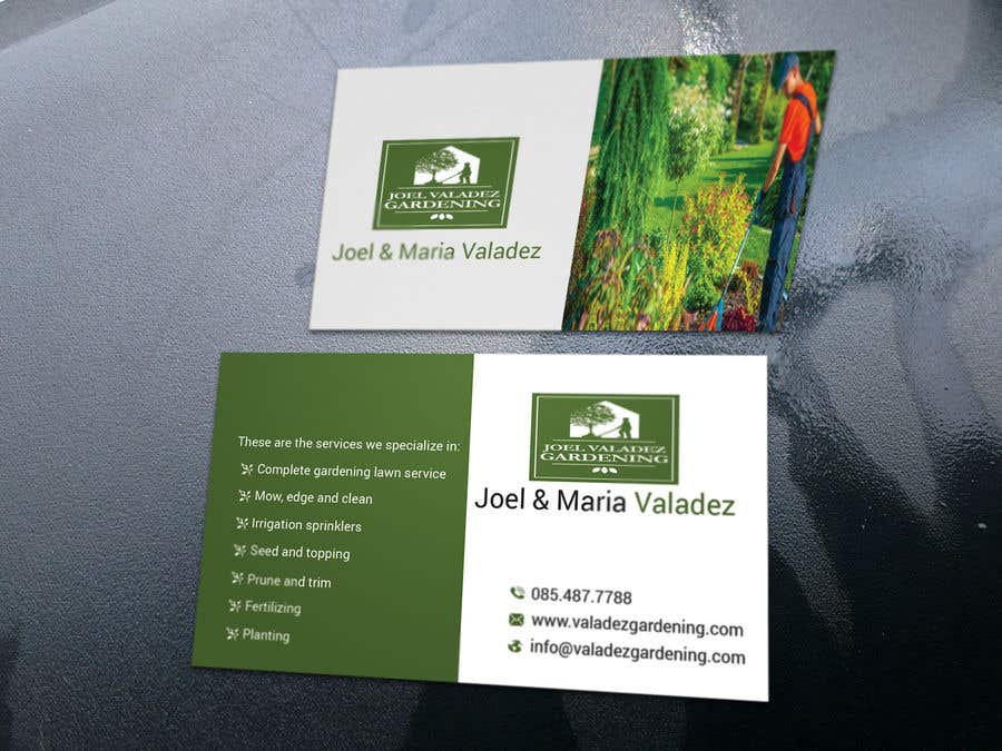 Proposition n°24 du concours Revamp Business Card for Landscaping/Gardening Service Provider