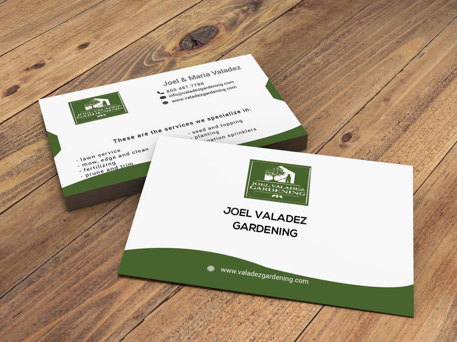 Proposition n°39 du concours Revamp Business Card for Landscaping/Gardening Service Provider