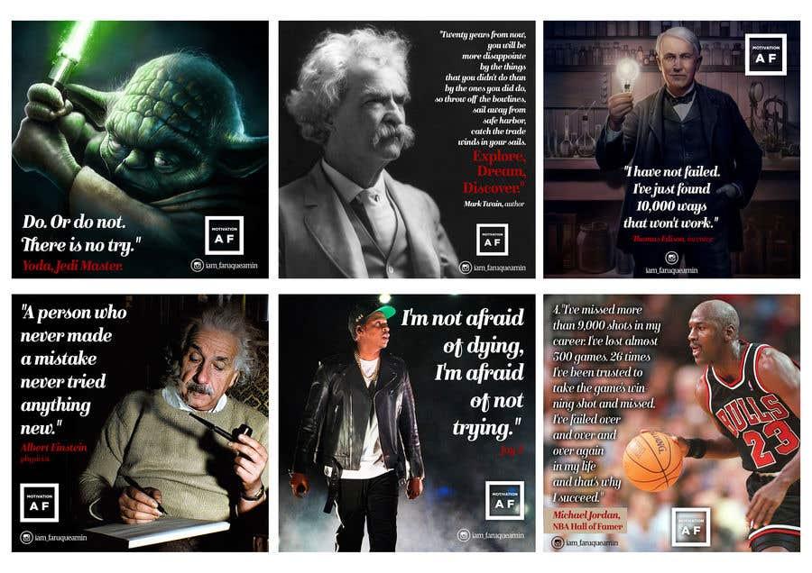 Penyertaan Peraduan #34 untuk Motivational quotes design