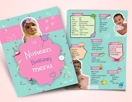 #16 untuk Make a Food Menue for Nureen Birthday oleh LaGogga