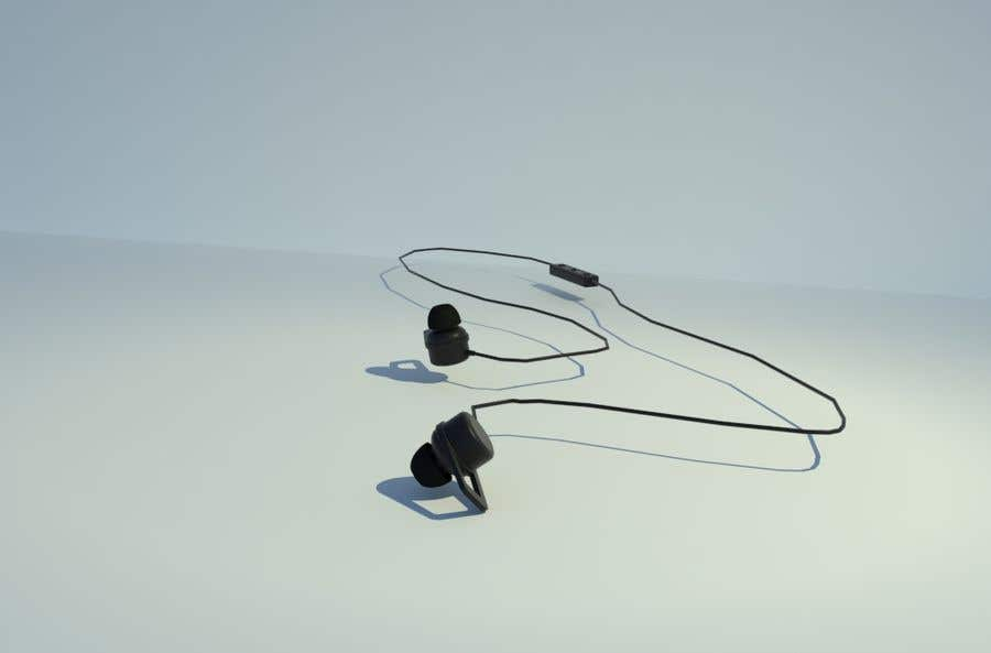 Proposition n°1 du concours 3d Model for earphone