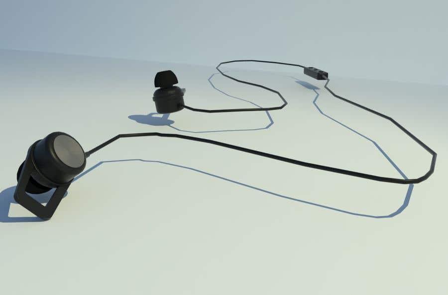 Kilpailutyö #2 kilpailussa 3d Model for earphone