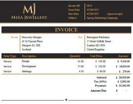 #32 para Create a Branded Excel Invoice for a Jewellery Company por zrliton