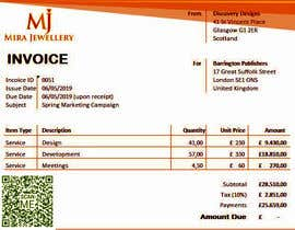 #26 for Create a Branded Excel Invoice for a Jewellery Company af emonm014say