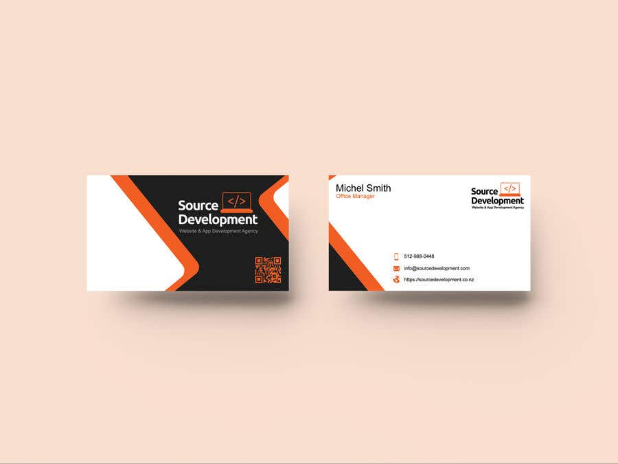 Kilpailutyö #56 kilpailussa Re-Design a Business Card for a Website & App Development Company