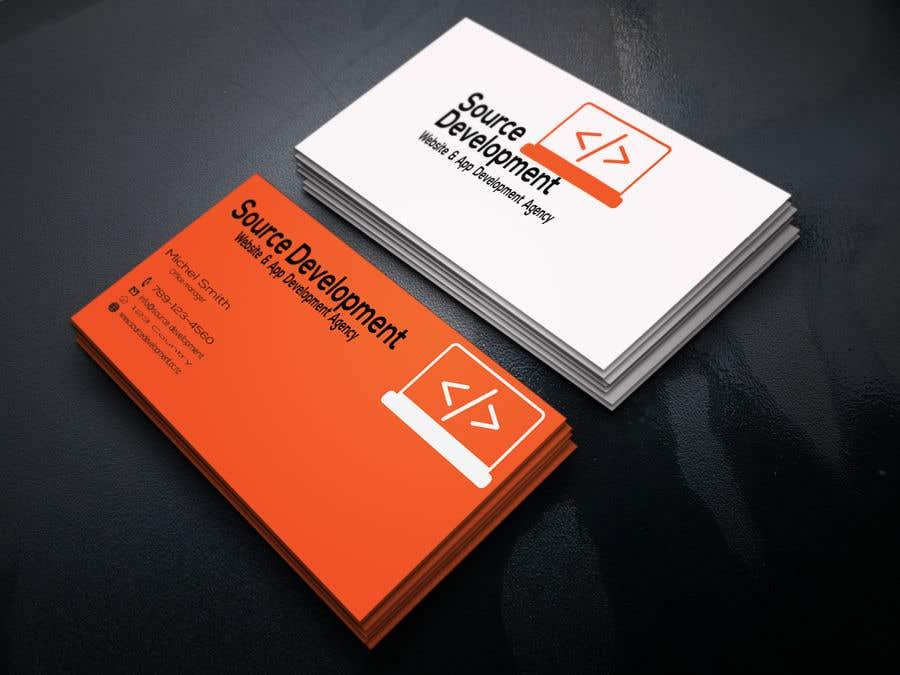 Inscrição nº 176 do Concurso para Re-Design a Business Card for a Website & App Development Company