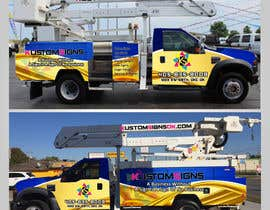 #19 for Bucket Truck Wrap, Kustom Signs by Leografic