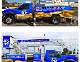 nº 24 pour Bucket Truck Wrap, Kustom Signs par mermed