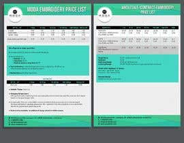 #11 for Design my price sheet by d3stin