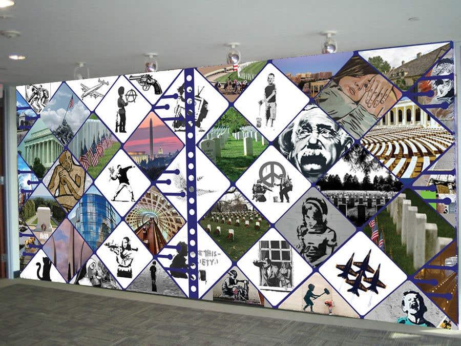 Kilpailutyö #71 kilpailussa Medical office Wall collage mural