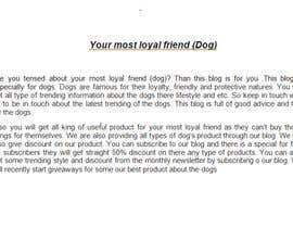 #4 for Landing page text (Collecting emails for dogs blog newsletter) by muntah