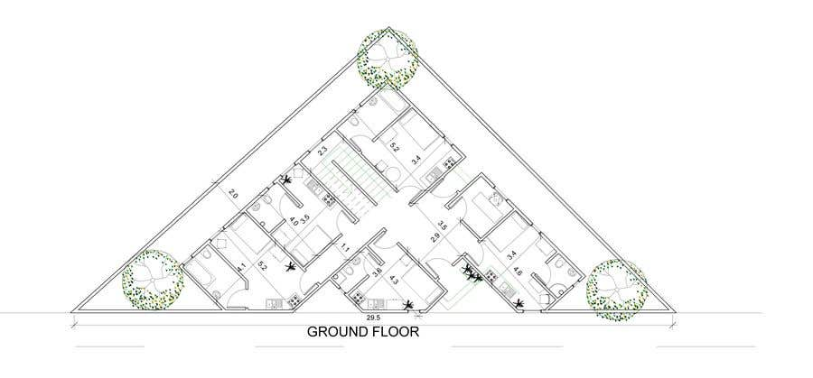 Proposition n°58 du concours Floor Plan needed for a student residence